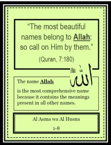 FlipBook 1-The Beautiful Names of Allah for ages 10+